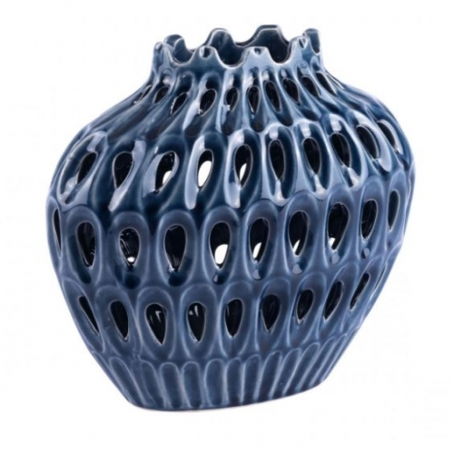 Open Blue Vase (Small)