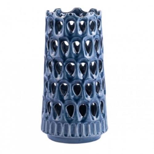 Open Blue Vase