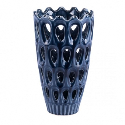Open Blue Vase (Medium)