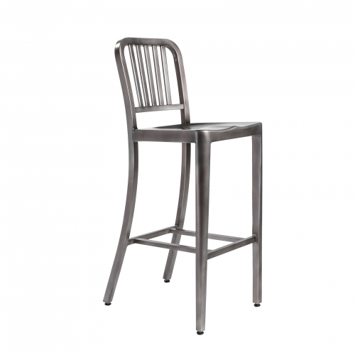 Brushed Nickel Barstool
