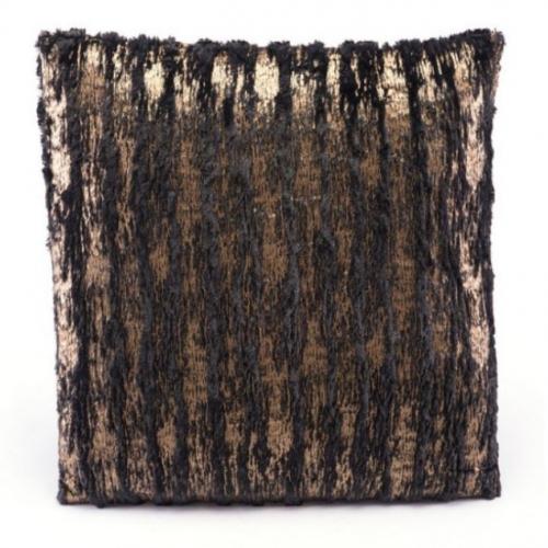 Metallic Pillow Black and Gold