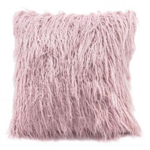 Faux Fur Pillow Pink