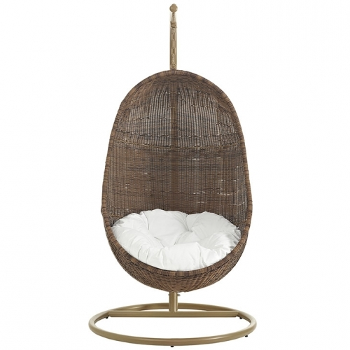 Swing Chair Brown & White