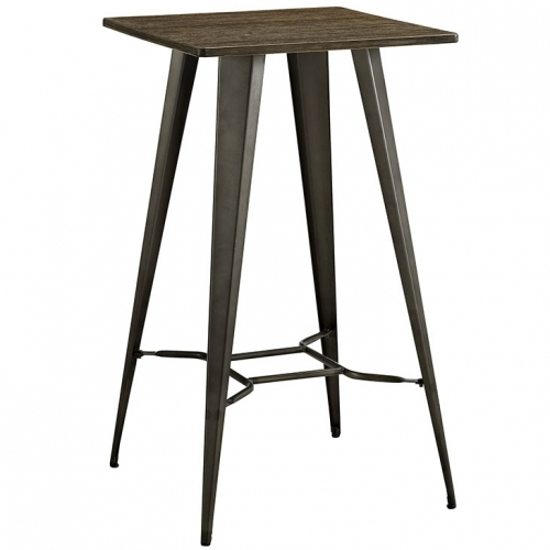 Metal Bar Table in Brown
