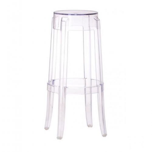 Clear Outdoor Barstool